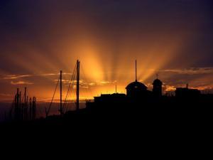 foto di tramonto tramonto Tramonto su Nettuno (Roma)
