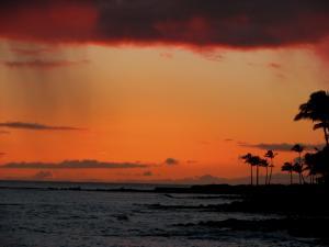 foto di tramonto tramonto Tramonto scattato sulla isola di Kauai isola delle Hawaii