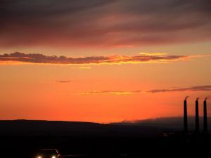 foto di tramonto tramonto Tramonto dei tempi moderni dal deserto in Arizona