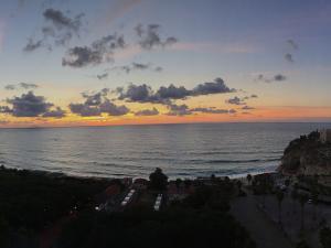 foto di tramonto tramonto Foto al tramonto da Tropea
